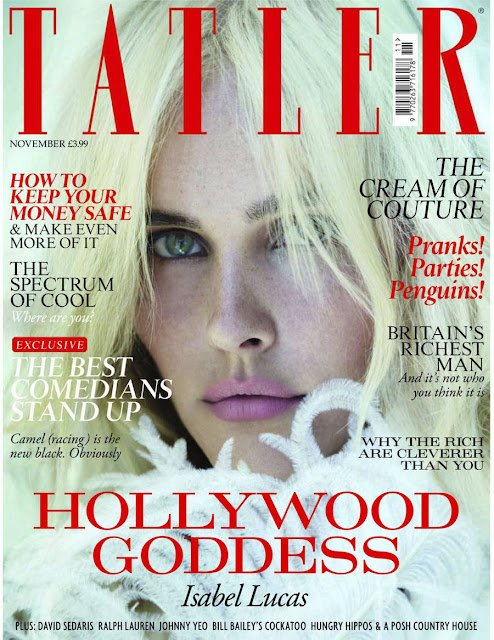 Isabel Lucas in Tatler Magazine
