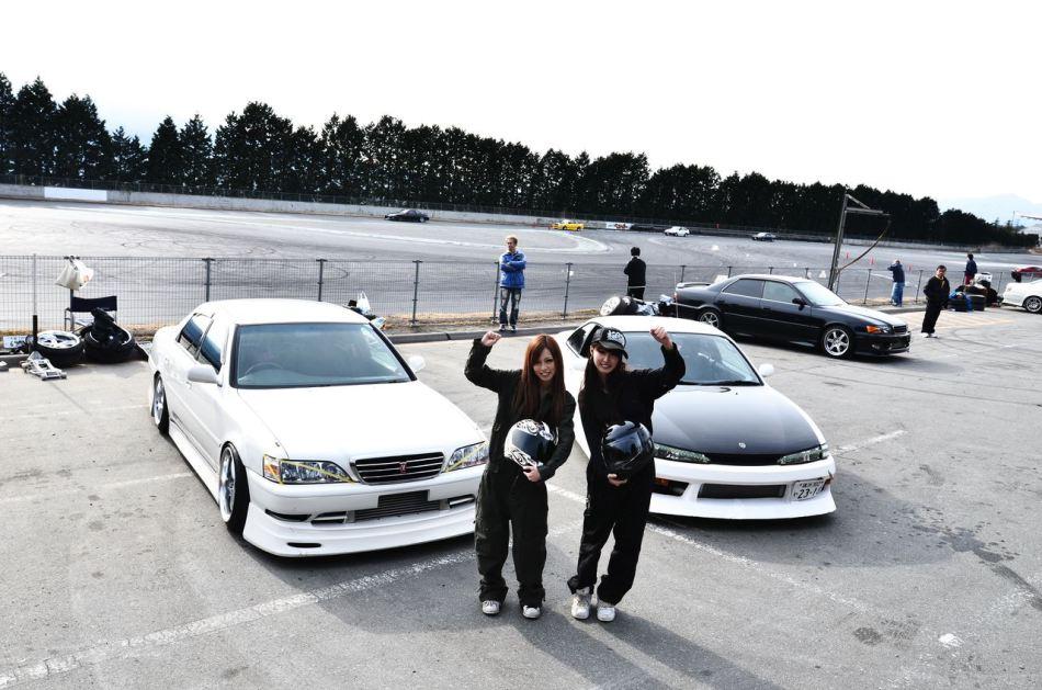 Toyota Mark II X100 & Nissan Silvia S14a, dziewczyny, drift, zdjęcia, galeria, fotki