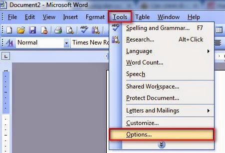 Hướng dẫn cách căn chỉnh lề trong Word 2003