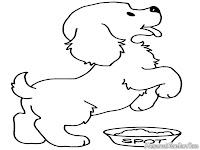 Lembar Mewarnai Gambar Anjing