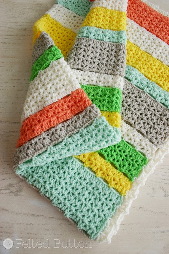 Felted Button Colorful Crochet Patterns A Free Crochet Blanket