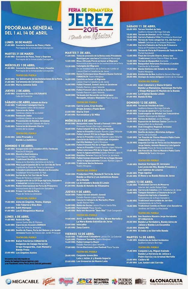 Programa completo Feria de la Primavera Jerez 2015