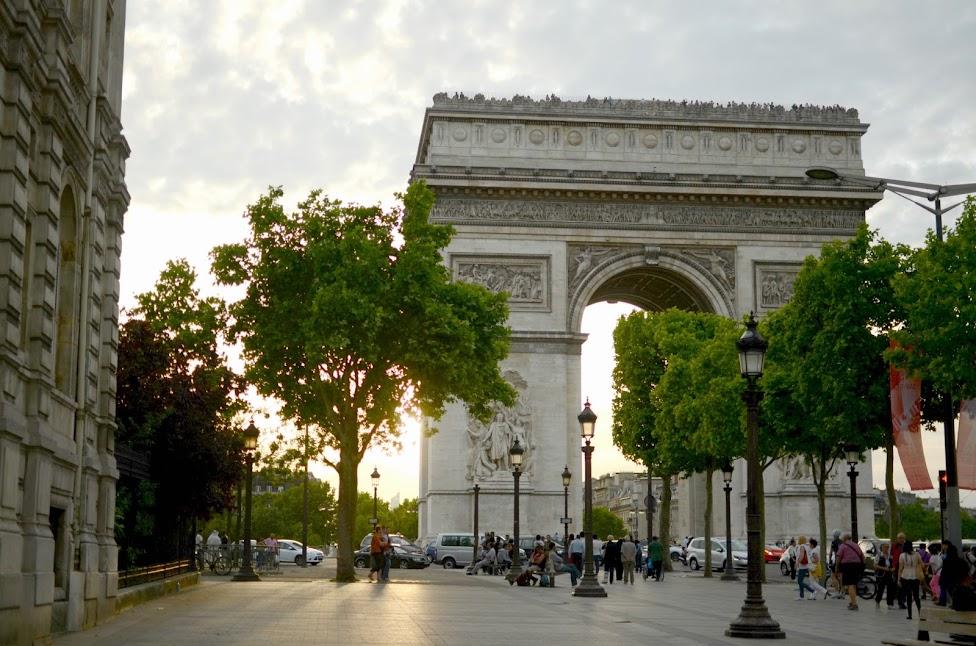 arc de triomphe at champs elysees in paris