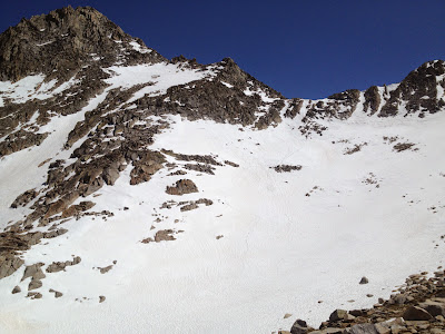 Heading up to the pass before Arrow Peak