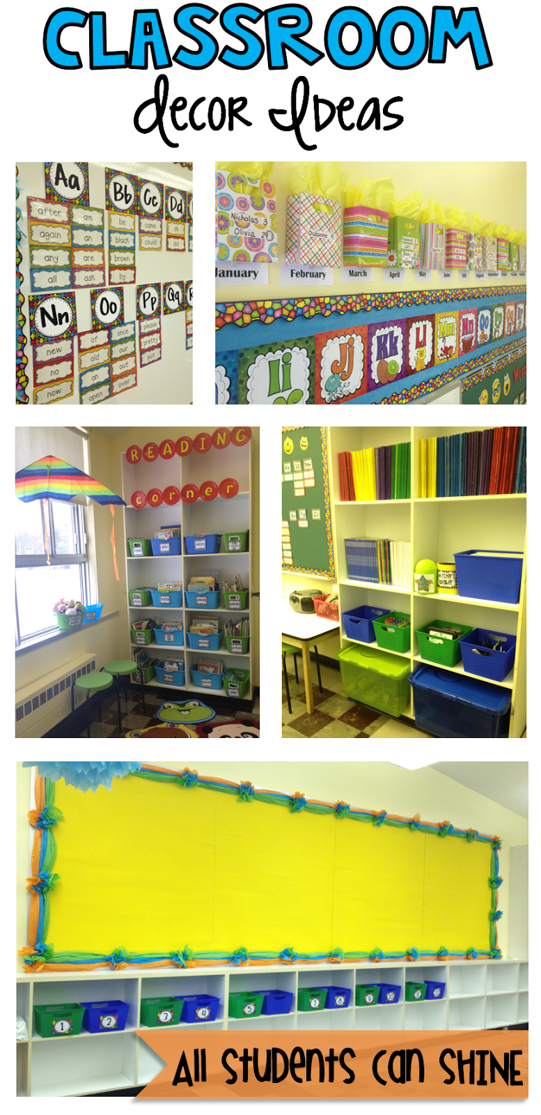 Classroom Decoration Idea ~ Classroom decor and organization all students can shine