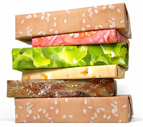Quirky Foodie Gift Ideas for Friends and Family :: Cheeseburger Wrapping Paper