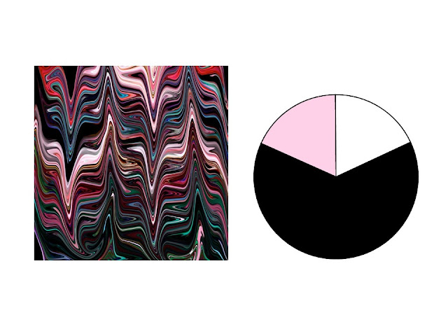 black, pink, red, teal and aqua marble patterned silk scarf with black, white and pink color scheme