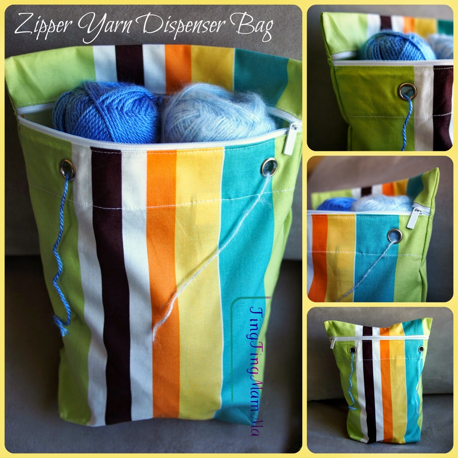 Easy Zipper Yarn Dispenser Bag