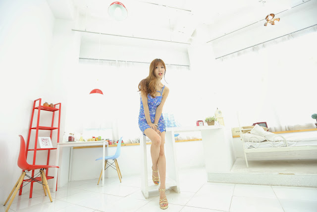 3 Choi Seul Ki - Lovely Seul Ki In Blue Dress - very cute asian girl-girlcute4u.blogspot.com