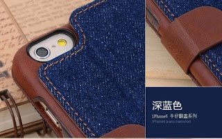 Kajsa Denim Leather Stand Flip Cover Wallet Pocket Case For iPhone 6 plus 5.5""