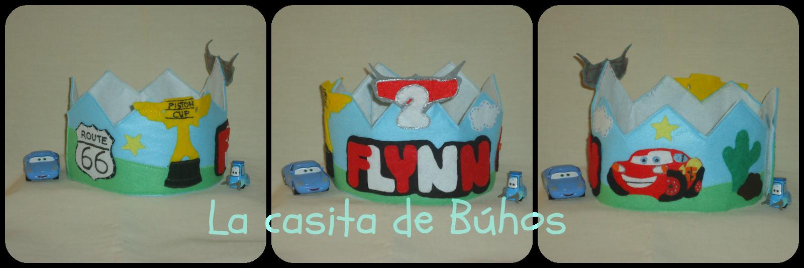 Corona cumpleaños fieltro Rayo macqueen - Cars felt birthday crown