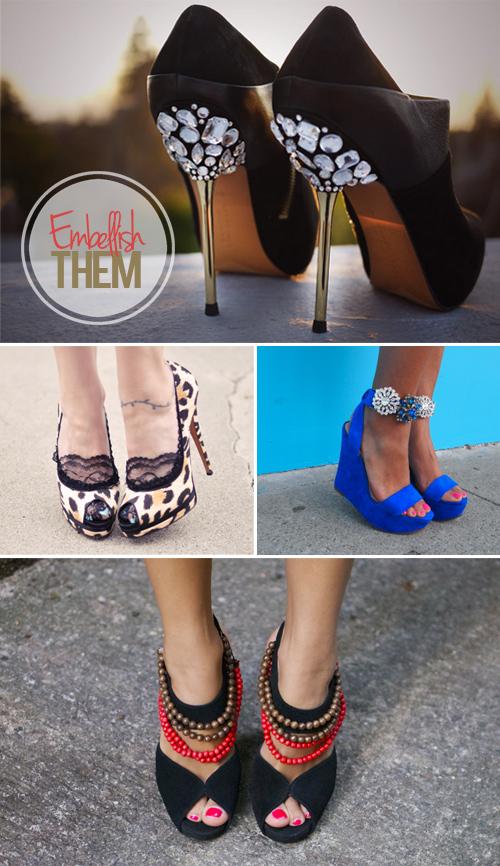 DIY Jewel Shoes