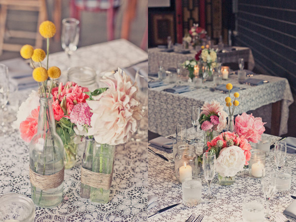 Cloud weddings papers centerpieces with simplicity