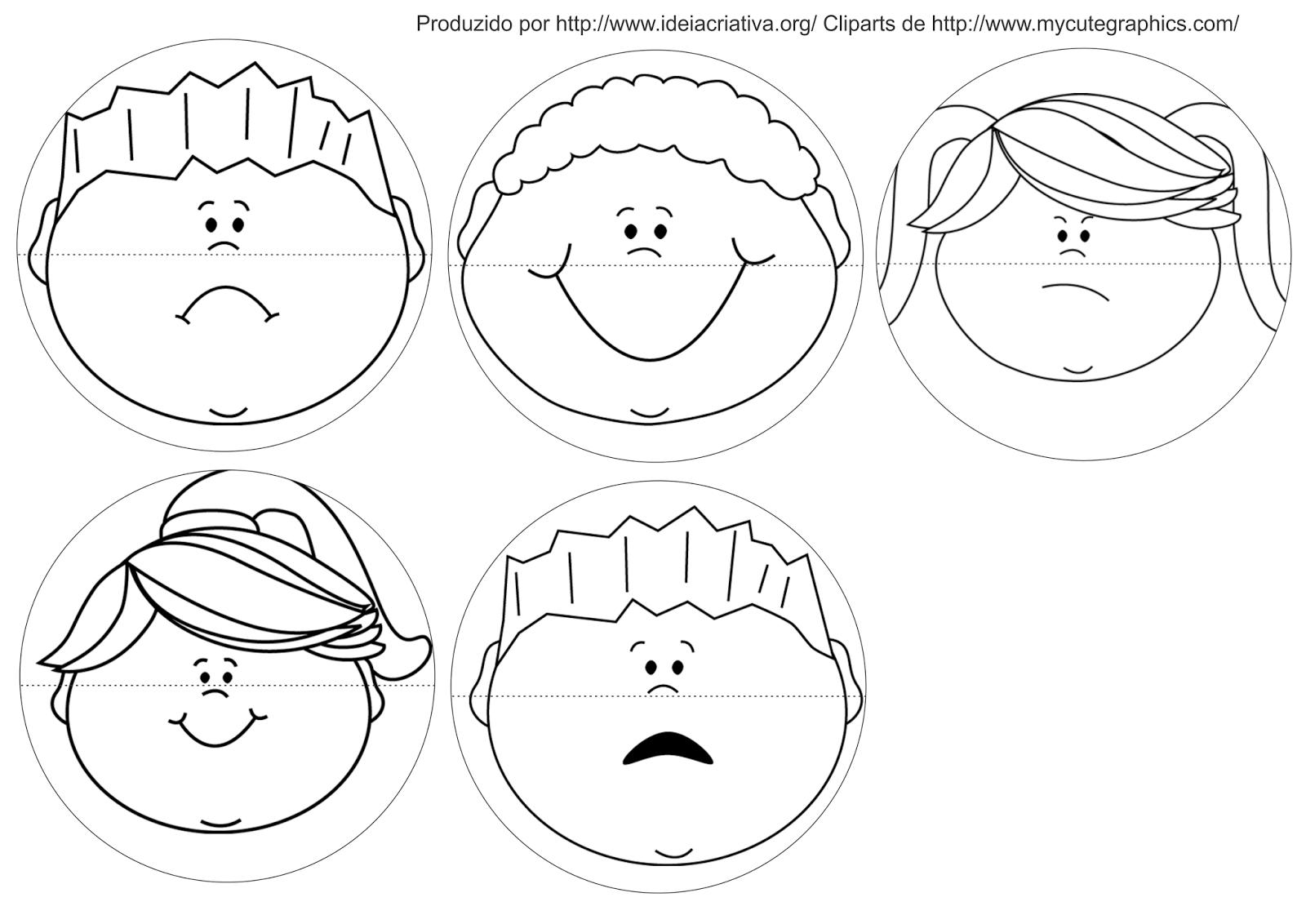 Jogo Pedagógico Trabalhando Expressões e Sentimentos