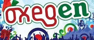 Oxegen / O2 music festival 2013 logo.  (spelling in logo in Oxegen, not Oxygen)