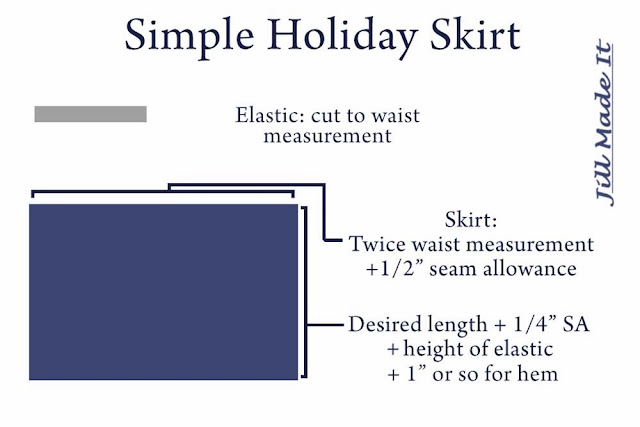 Simple Holiday Skirt Pattern