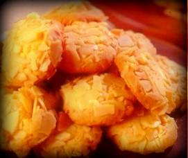 Resep Kue Kering Keju Renyah Almond Slice