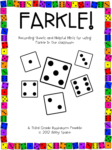 friday farkle freebie updated the elementary bookworm