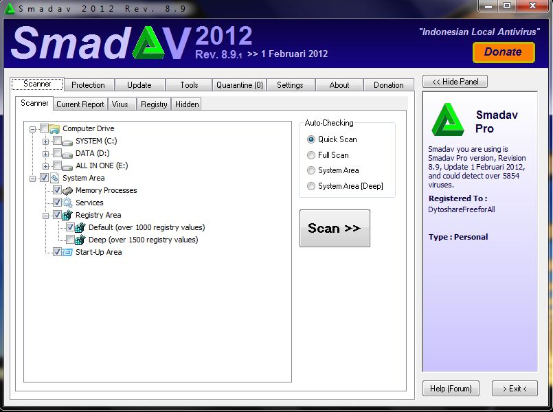 Download | SmadAV 2012 Rev. 8.9 Pro incl. Serial - (640 KB)