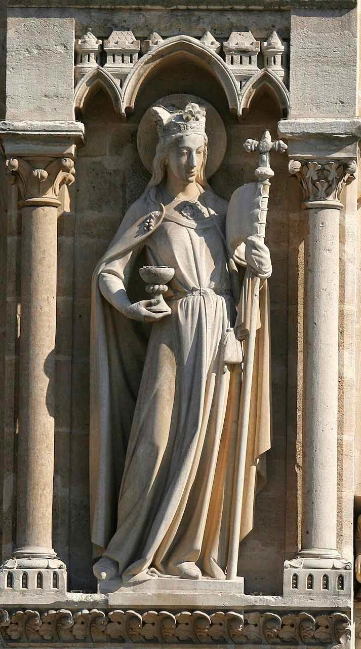 A Igreja triunfante. Fachada da catedral Notre Dame, Paris.