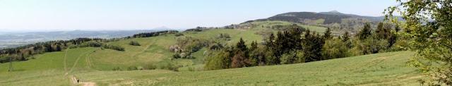 Panorama vom Jaberlich (Nordböhmen) aus