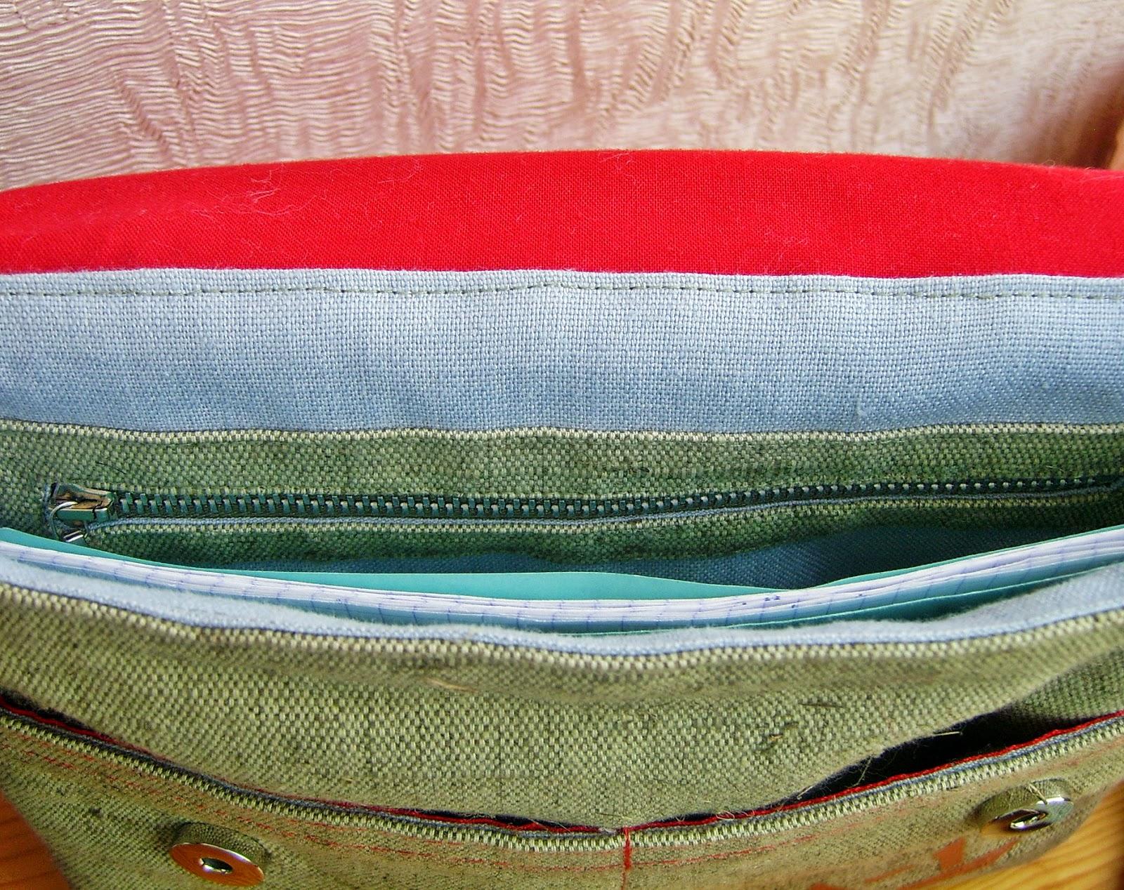 сумка-планшет, внутренний карман
