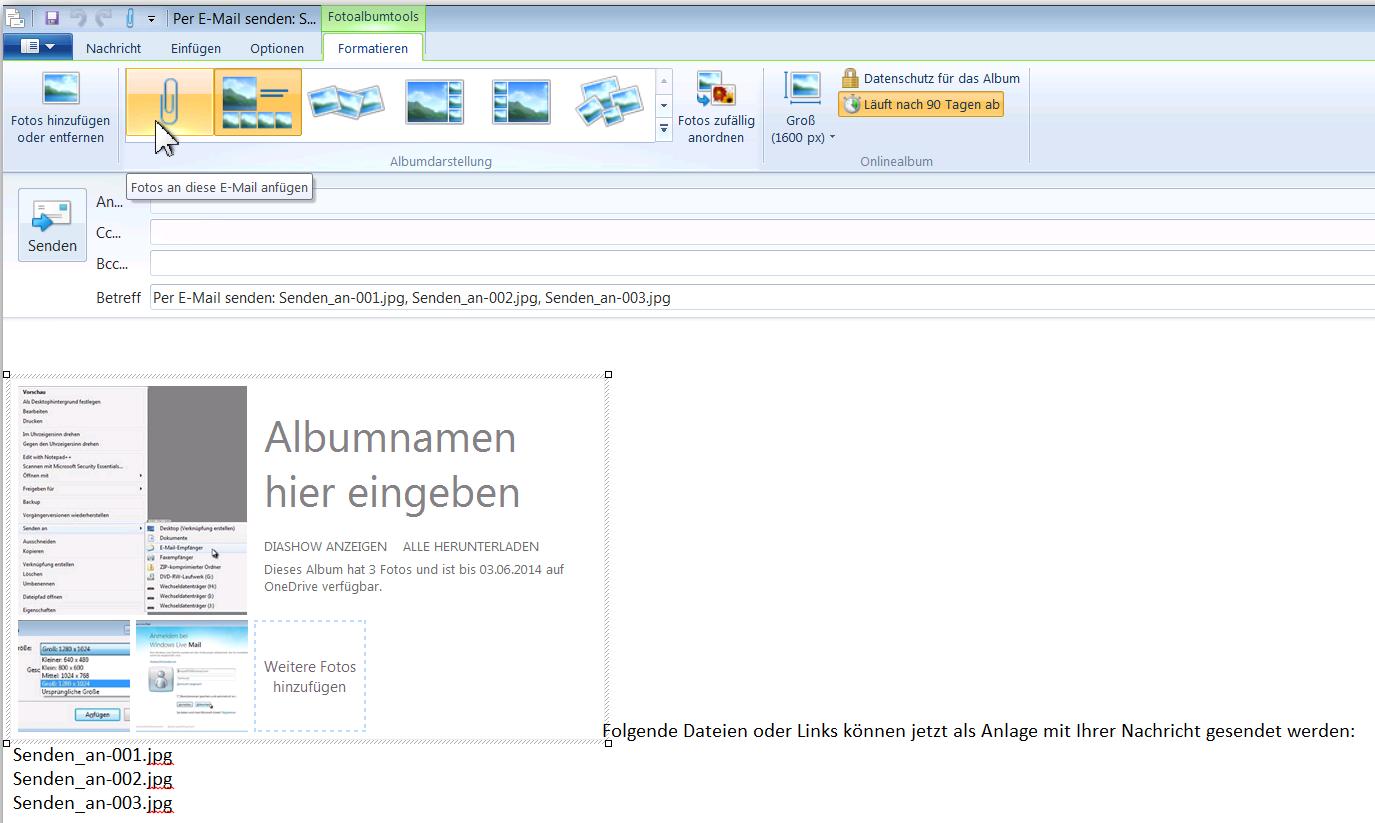 PcEinsteiger: Bilder verkleinert mit Windows Live Mail senden