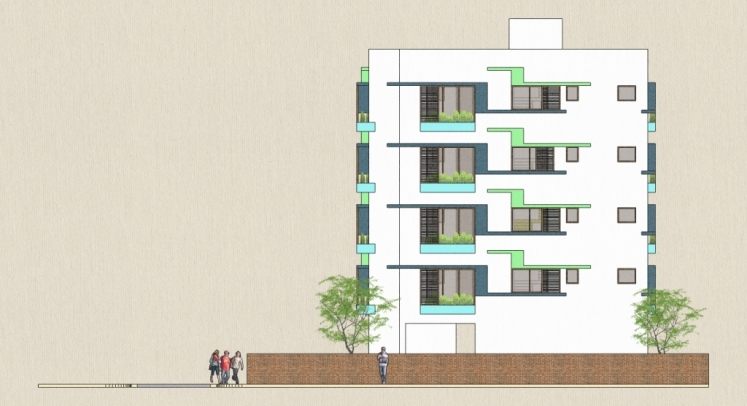 Home plans in india 5 best apartment building design by for Apartment house plans india