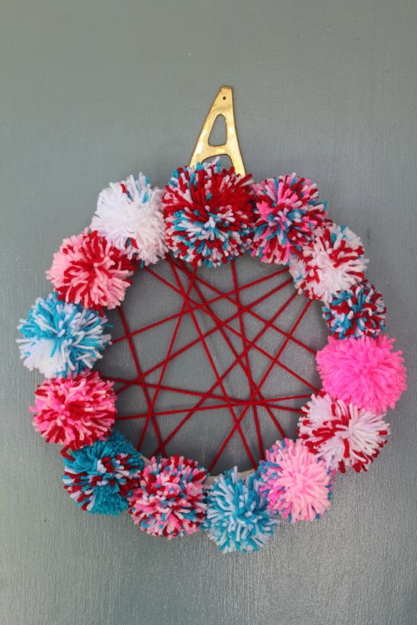 Scrumdillydilly Scrumdilly Diy 4th Of July Pom Pom Wreath