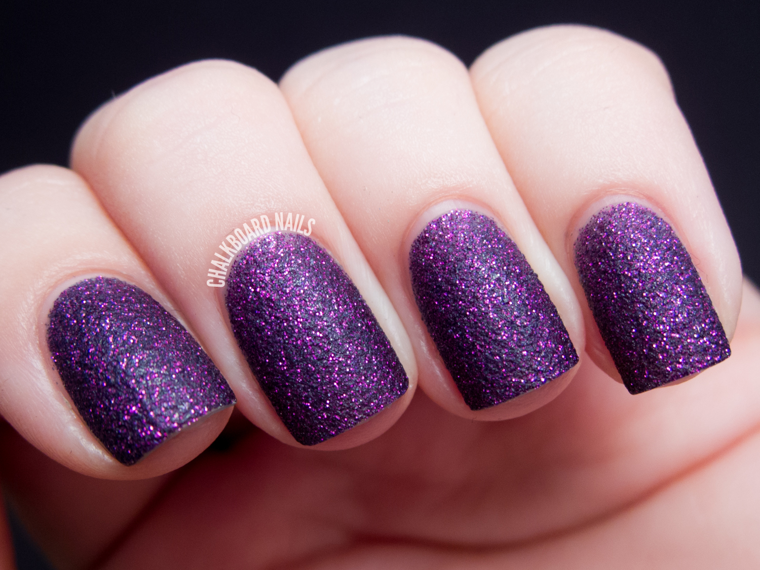 Purple and gold nail art