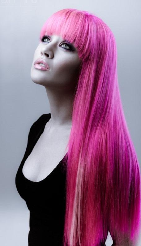 Cortes de pelo de ninas cortes de pelo para pelos ondulados pelo rosa