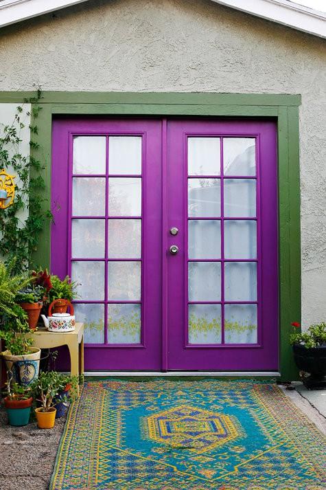 purple front door design 3 ไอเดียแต่งบ้านด้วยประตูบ้านสำหรับคนชอบสีม่วง