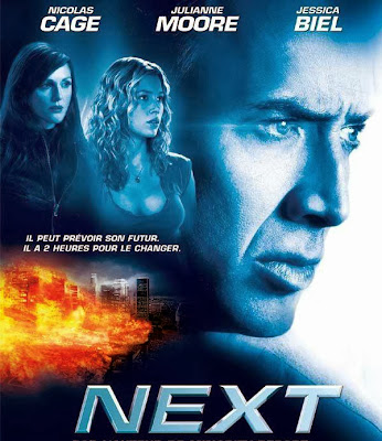 Poster Of Next (2007) In Hindi English Dual Audio 300MB Compressed Small Size Pc Movie Free Download Only At worldfree4u.com