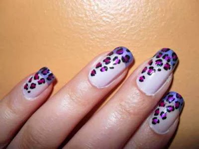 Nice Cheetah Nail Art