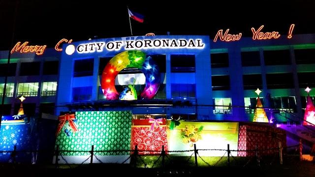 Christmas decors at Koronadal City Hall