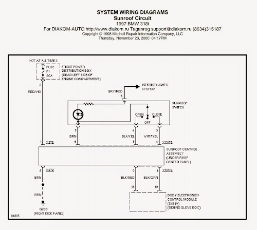 Wiring Diagrams And Free Manual Ebooks  1997 Bmw 318i Sunroof Circuit Diagram