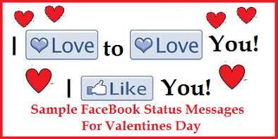 FaceBook Satus Messages For Valentines Day