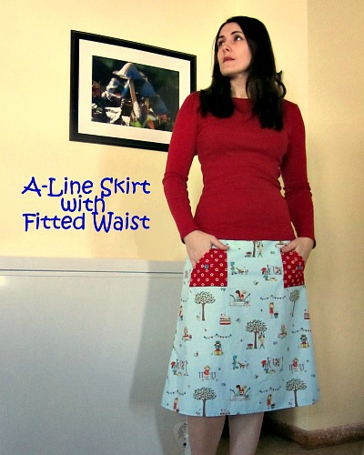 SunnySewing: A-Line Skirt with Fitted Waist ~ How To Get The ...