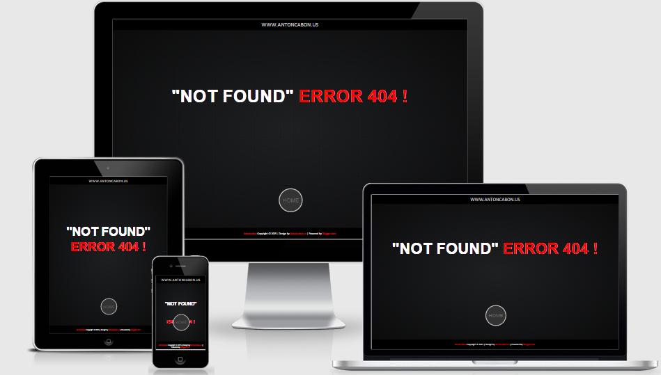 Cara Membuat Error Page Ala Antoncabon