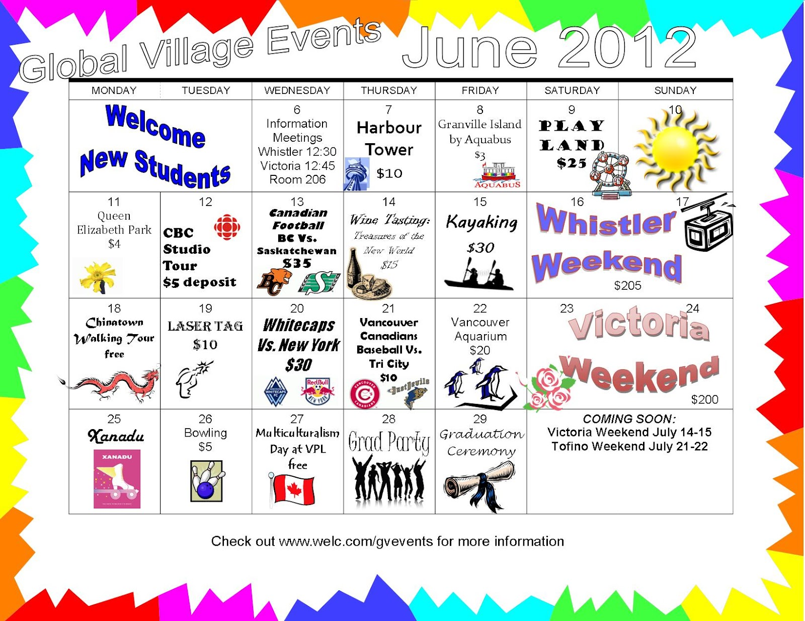 June Calendar Events : Global village vancouver events calendar