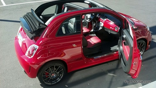 Fiat 500c Abarth Cabrio opened up