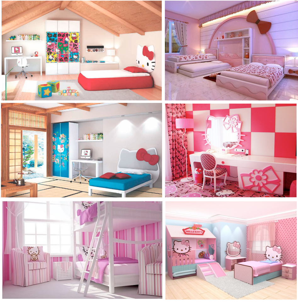 Decora tu habitaci n con hello kitty locos por hello kitty - Cortinas de hello kitty ...