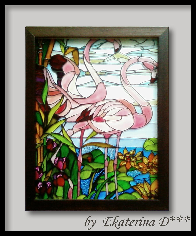 Трафареты витражей красками на стекле своими руками 38