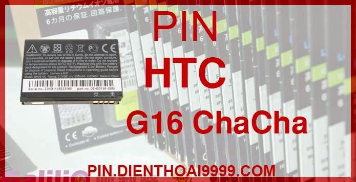 Pin điện thoại HTC-G16 - Pin Chính hãng / Pin Galilio G16 dung lượng cao. - Giá 200K - Bảo hành: 6 tháng  - Pin tương thích với điện thoại HTC Chacha, Pin HTC G16, A810E, Pin HTC Status, PH06130  Thông số kĩ thuật: - Pin dung lượng cao cho điện thoại HTC-G16 được thiết kế kiểu dáng và kích thước y như pin nguyên bản theo máy, Pin tiêu chuẩn, chất lượng như pin theo máy. - Kích thước: - Dung lượng: 1300 mAh - Điện thế: 3.7V - Công nghệ: Pin Li-ion Battery