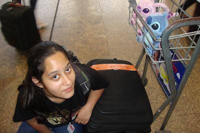 Despacho de bagagem no aeroporto internacional de Guarulhos