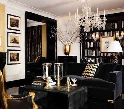 The Second Room Is A Combination Of Black, Gold And Chevron Therefore  Nothing Short Of Amazing And Lastly The Home Office Via Ralph Lauren Home  Screams ...