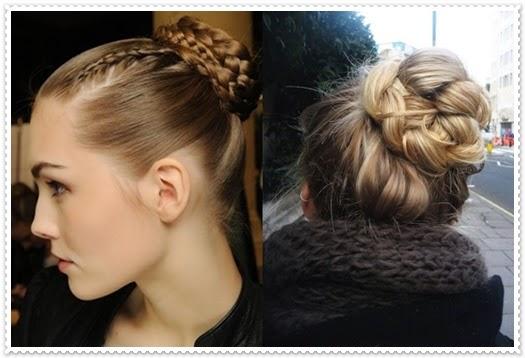 Zopf -Hochsteck Frisuren für den Alltag 2014