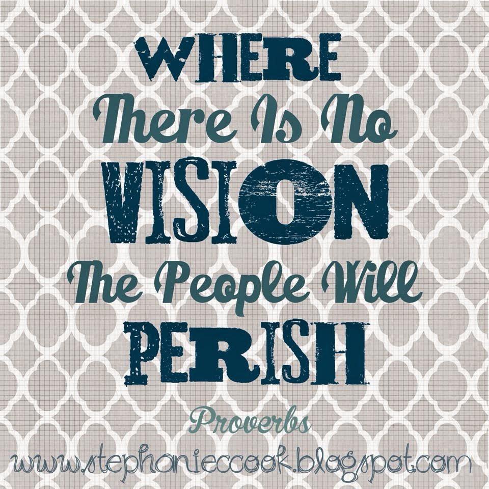 set your vision, set goals, clear direction