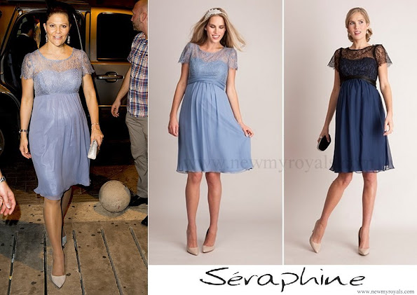 Crown Princess wore SERAPHINE Silk and Lace Special Occasion Dress – is available now in LUXE collection.