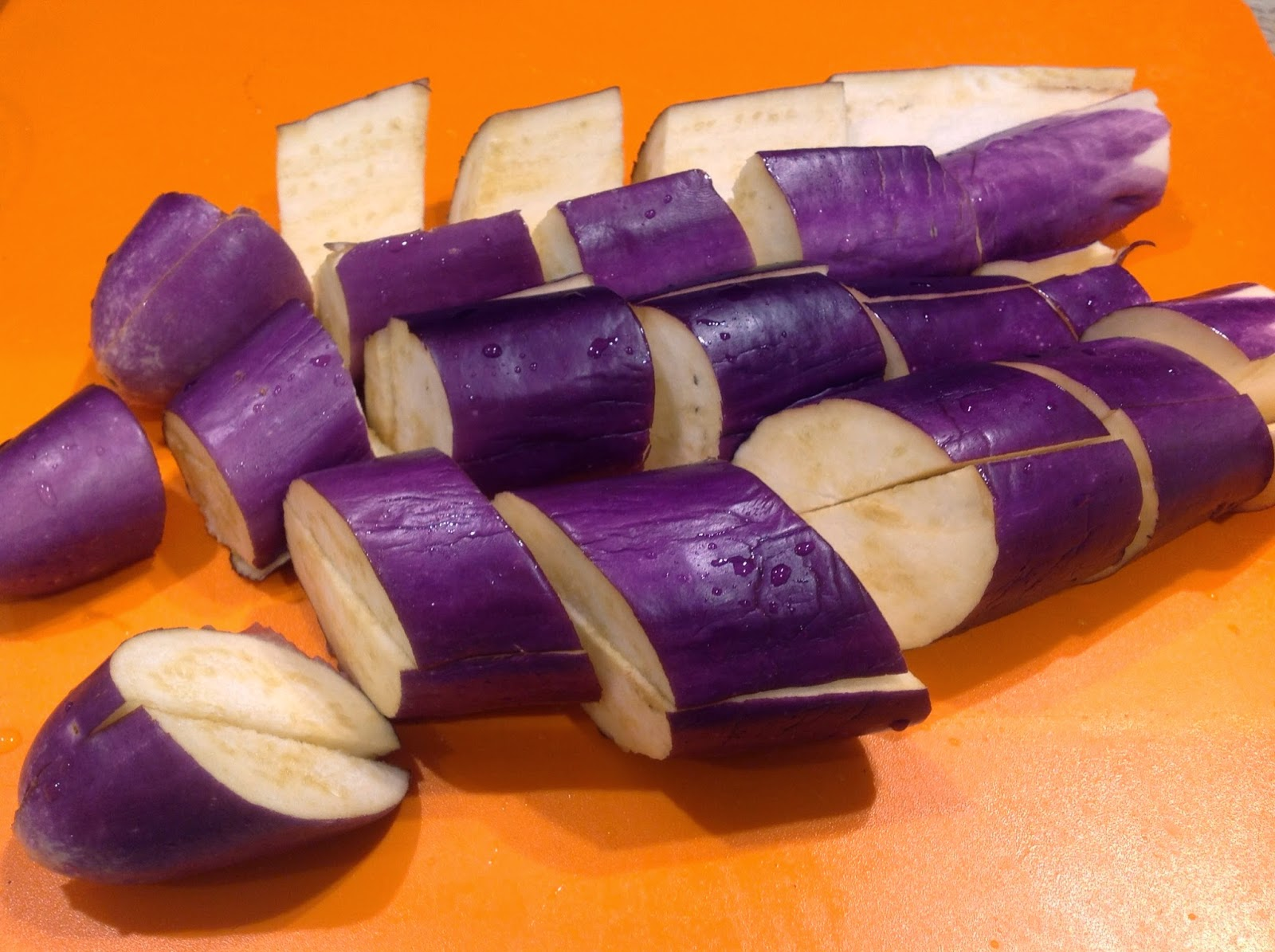 chinese eggplant sliced